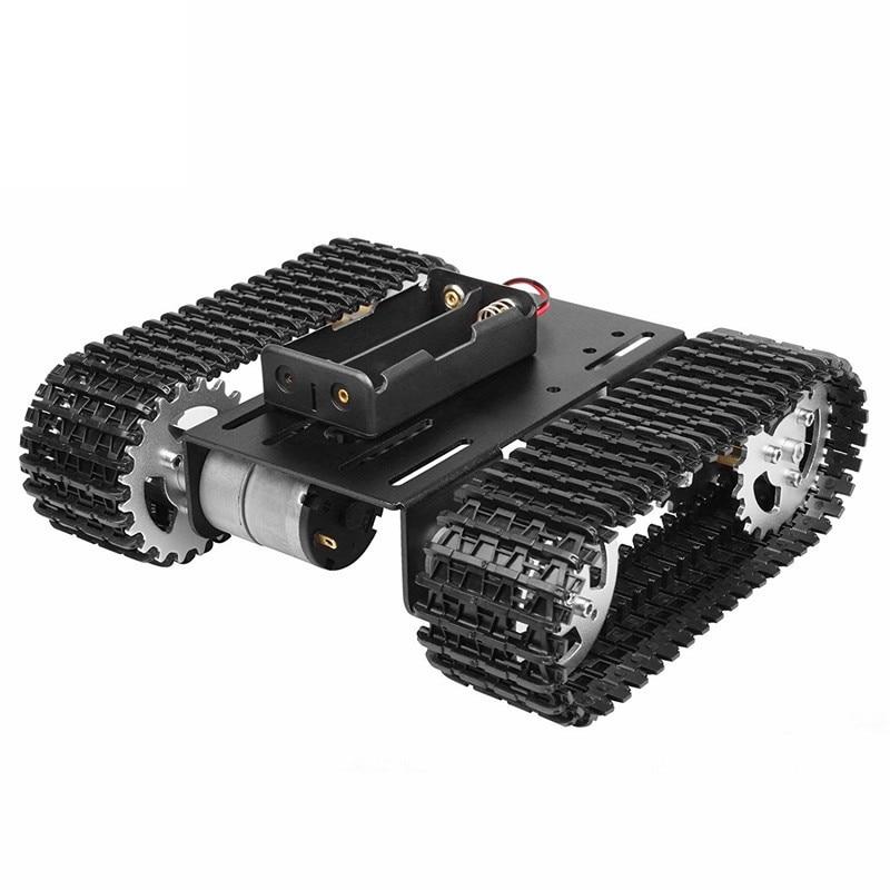 Умный робот шасси танка гусеничный автомобиль платформа T101 с двойным DC 12V 350rpm Мотор для Arduino DIY робот игрушка часть