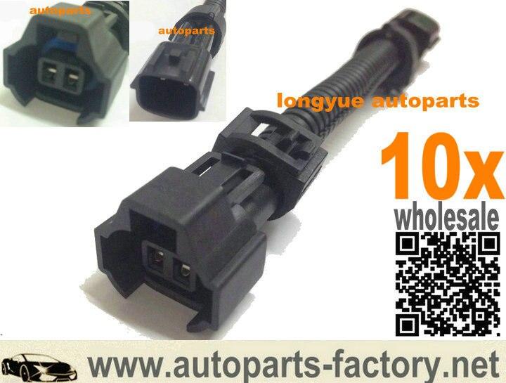 Qingdao Pegaso 10 Uds GM nippon denso combustible adaptador para inyector fit nissan sr20 s13 r32