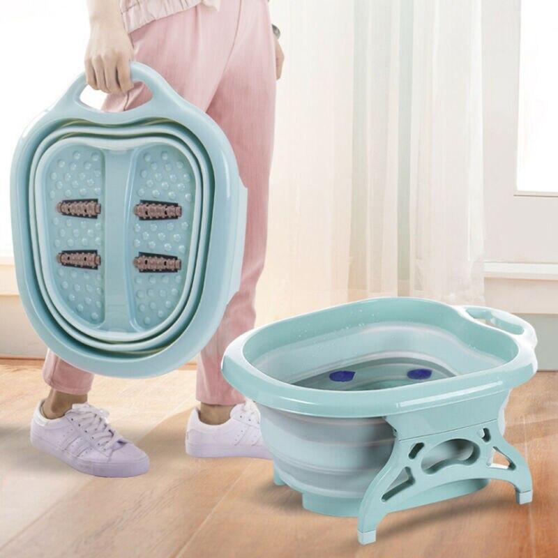 Портативные складные дорожные Складные ведра для ступней спа педикюр горячая Распродажа ванночка для массажа