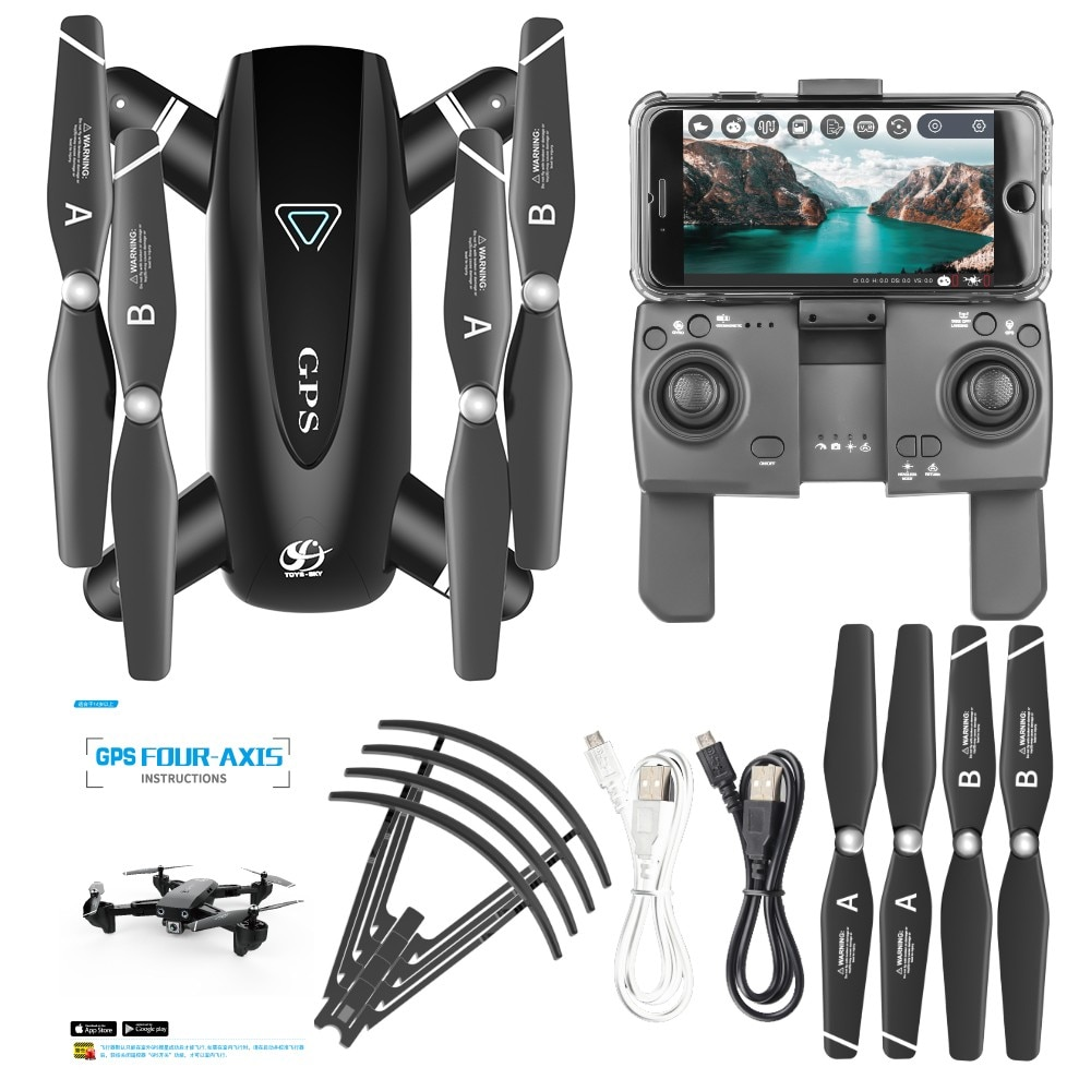NEW S167 Drone With Camera 5G RC Quadcopter Drones/ HD 4K /WIFI FPV Foldable Off-Point Flying/ Photos Video Dron Helicopter Toy enlarge