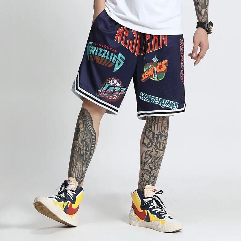 li ning men classical basketball shorts comfort breathable 100% polyester lining slim competition sports short trousers aapn015 Men's Loose Basketball Shorts Fashion Printed Beach Pants Polyester Running Fitness Training Sports Gym Shorts Men Sweat Pants