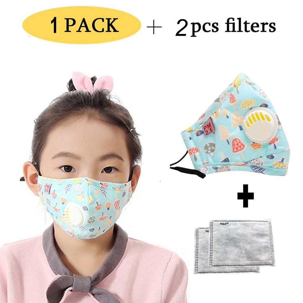 1 шт дети Facemask Моющиеся Многоразовые с фильтрующими клапанами мультипликационный принт милый Сейлор Мун многоразовые Facemask для детей Mascaras