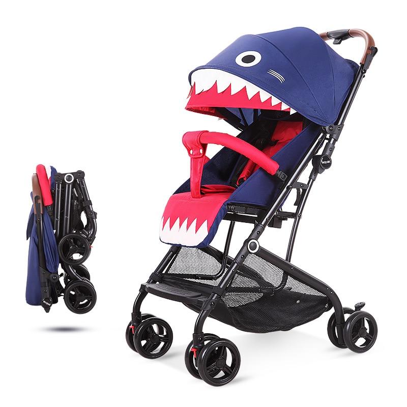 Прогулочные коляски легкие и легко катаются или ложатся на Детские коляски с амортизаторами для детей