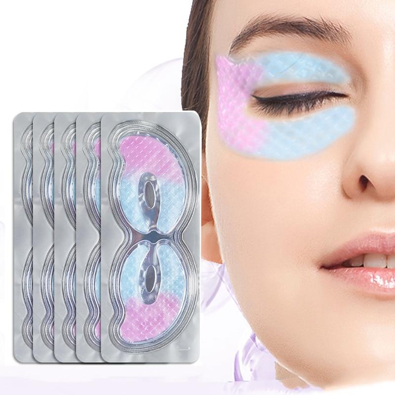 8-3Pair Collagen Crystal Eye Mask Gel Pad Anti-Aging Eye Patches Hydrating Moisturizing Remove Dark Circles Skin Care Eye Mask