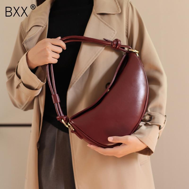 [BXX] Female Small Luxury Brand Bags For Women 2021 Winter PU Leather Crossbody Bag Ladies Travel Handbag and Purse HQ187