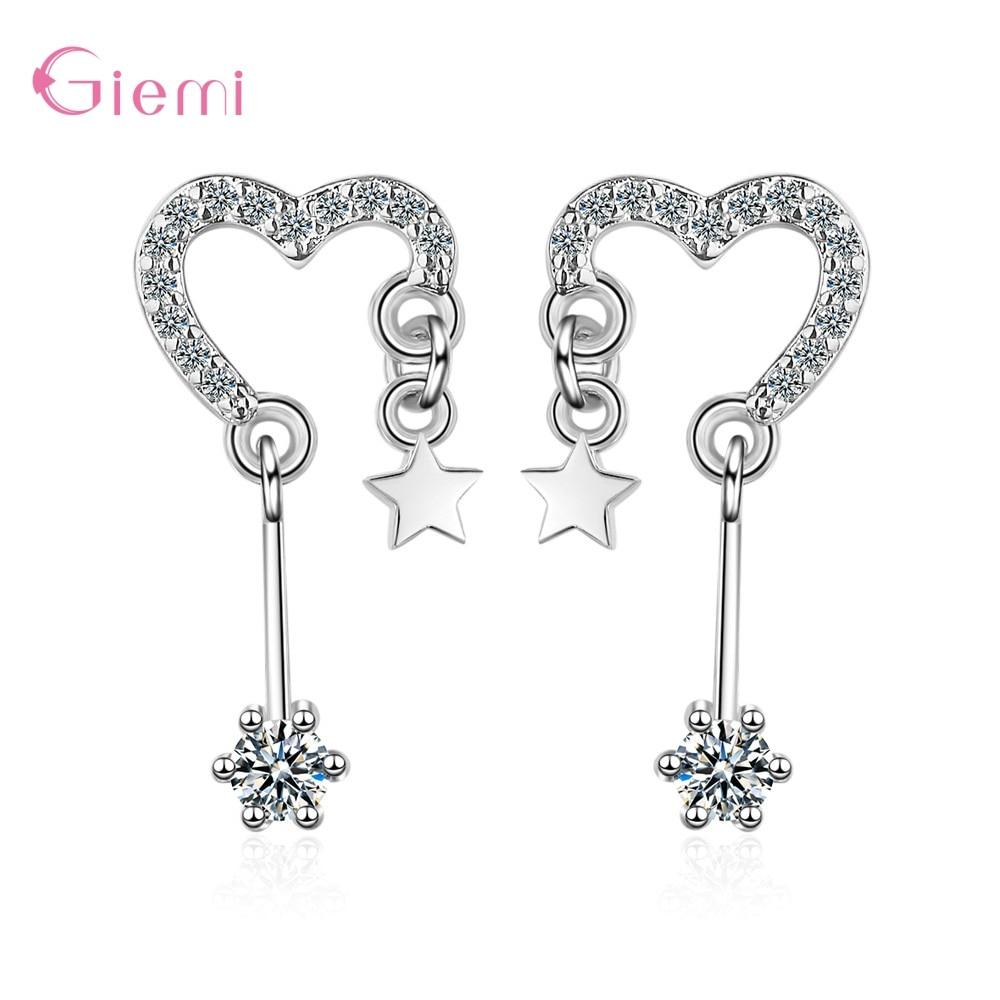 Estilo coreano festa declaração amor coração grandes brincos para mulher bijoux cristal gota balançar brincos moda jóias