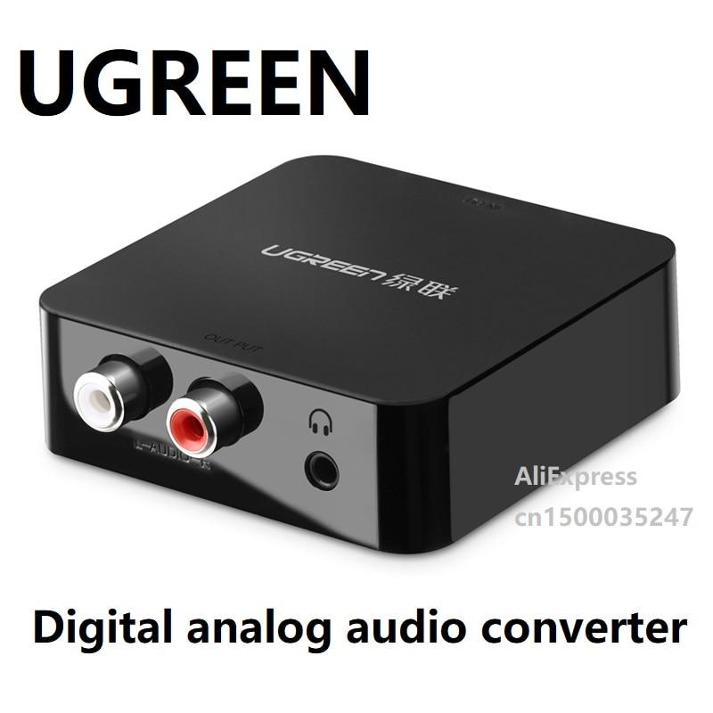 UGREEN-convertidor Coaxial Digital, pantalla de salida de fibra RF, caja de Audio,...