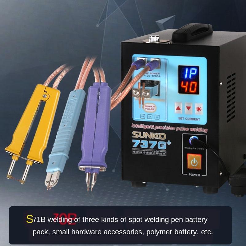 Enhanced Sunkko737g +18650 Lithium Battery Spot-Welder Handheld Small Automatic Induction Fast Welding Miliaukee kit tool enlarge