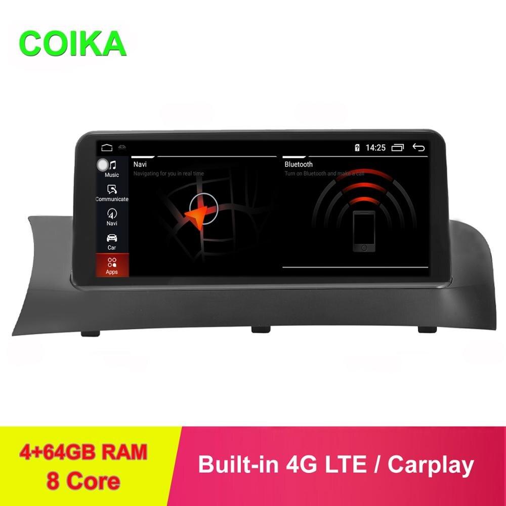 "COIKA-Pantalla táctil IPS para coche de 10,25 "", para BMW X3 F25 F26 11-16, 8 núcleos, sistema Android 9,0 GPS Navi Stereo 4 + 64GB de RAM IPS"