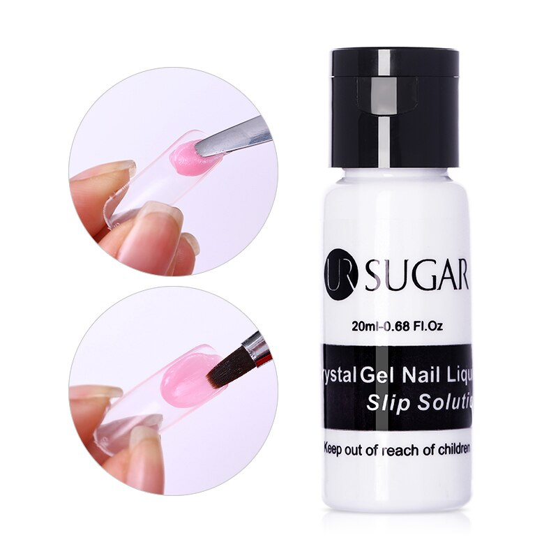 UR SUGAR Poly UV gel Nail Liquid Slip Solution 20ml Nail Enhancement Acrylic Builder Extension Gel Soak Off Crystal varnish