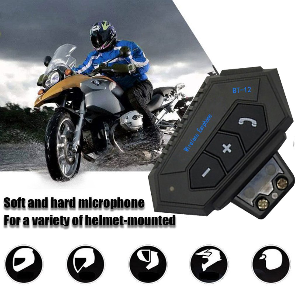 QTB35 Motorcycle Helmet Wireless Headsets Hands-free Kit Stereo Anti-interference Interphone Music Player Earphones enlarge