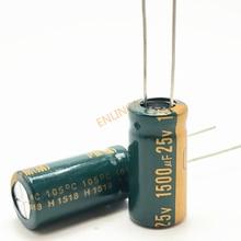 Condensador electrolítico de aluminio de alta frecuencia y baja impedancia, 25V, 1500UF, 10x20, 1500uf, 25v, 20%