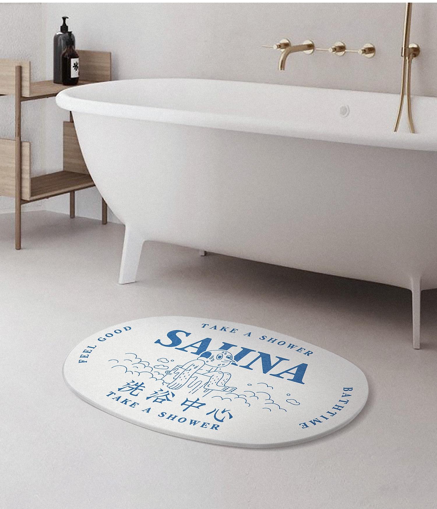 Modern Mat For Bathroom Floor Carpets Diatom Warm Shower Non Slip Bath Mats Floor Doormat Salle De Bain Bathroom Product DH50DD