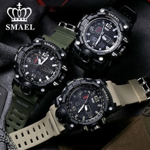 SMAEL 2021 Fashion Men Sports Watches Men Analog Quartz Clock Military Watch Men's Digital Wrist Wat