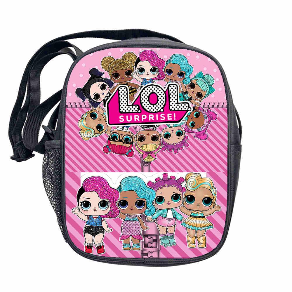 Chica hombro bolsa LOL muñecas bolso chico lindo de dibujos animados impreso bolsa de mensajero Bolso pequeño niño regalo de cumpleaños