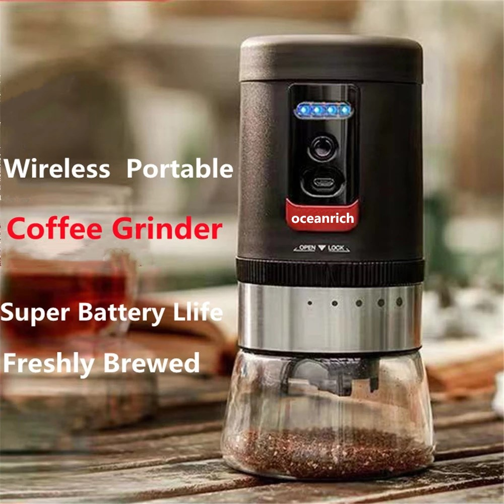 OR-G1 Electric Coffee Grinder 5 Gears Thickness Adjustment Portable USB 800mAh Rechargeable 20g Capacity Automatic Power Off