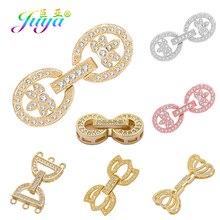 Juya bricolage pierre naturelle perles bijoux fermoirs fournitures à la main attache fermeture serrure fermoirs pour perles fabrication de bijoux matériel