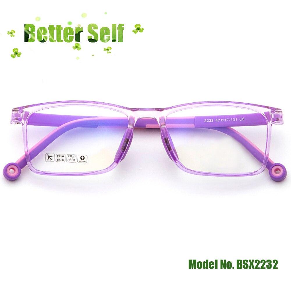 Gafas para niños BSX2232, gafas cuadradas de doble Color, monturas ópticas suaves y seguras, gafas Tr90, puede equipar lentes de miopía