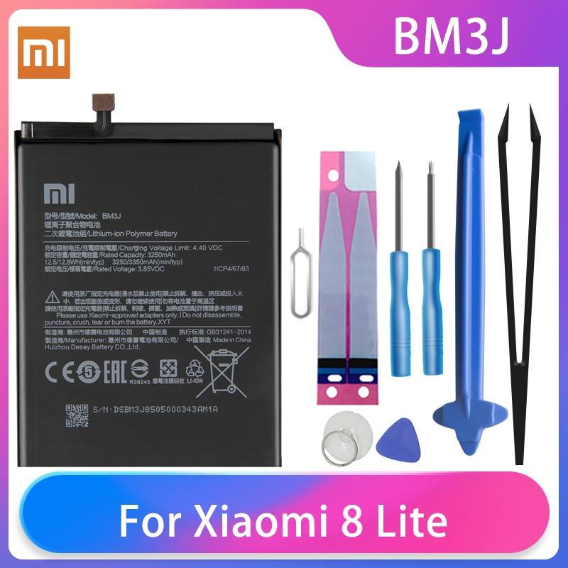 Original Xiaomi 8 Lite MI8 Lite Phone Battery BM3J 3350mAh High Capacity XiaoMi Phone Batteries Free Tools Phone AKKU enlarge