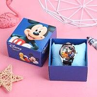 Детские часы Disney с Микки Маусом для мальчиков и девочек, детский мультяшный подарок с коробкой, игрушки, Изысканные часы, детские подарки на ...
