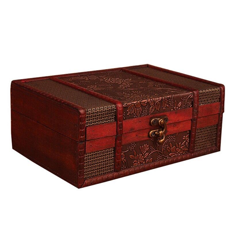 صندوق تخزين خشبي ، صندوق تخزين مزخرف ، حنين ، صندوق مجوهرات ، صندوق مستحضرات تجميل عتيق ، تماثيل منزلية