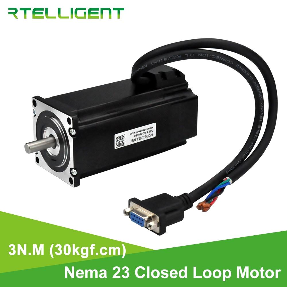Rtelligent-محرك متدرج مغلق الحلقة Nema 23 ، 3N.M ، 30kgf.cm ، 4.0A ، جهاز تشفير خط 1000 ، 57x57mm