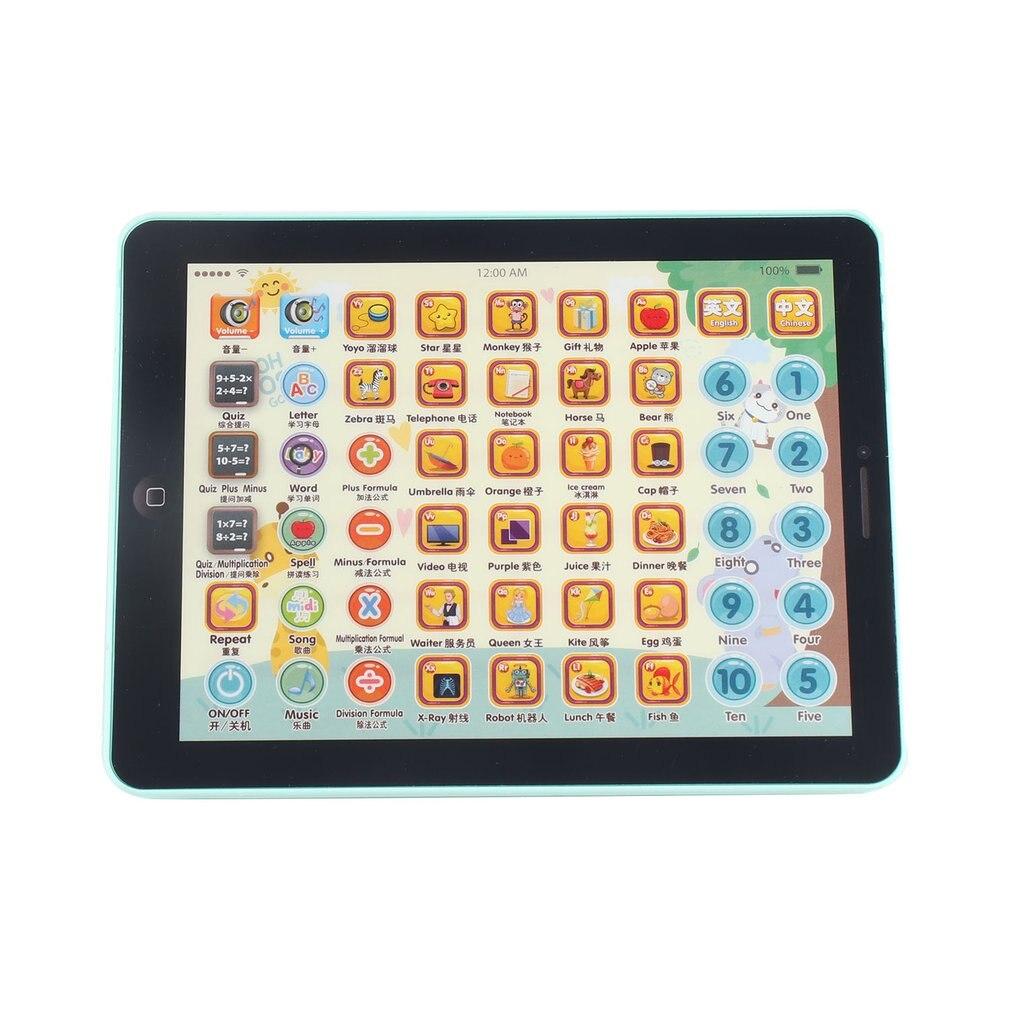 Crianças do bebê toque tablet almofada brinquedos educativos máquina digital aprendizagem precoce leitura inglês chinês para crianças tablet infantil