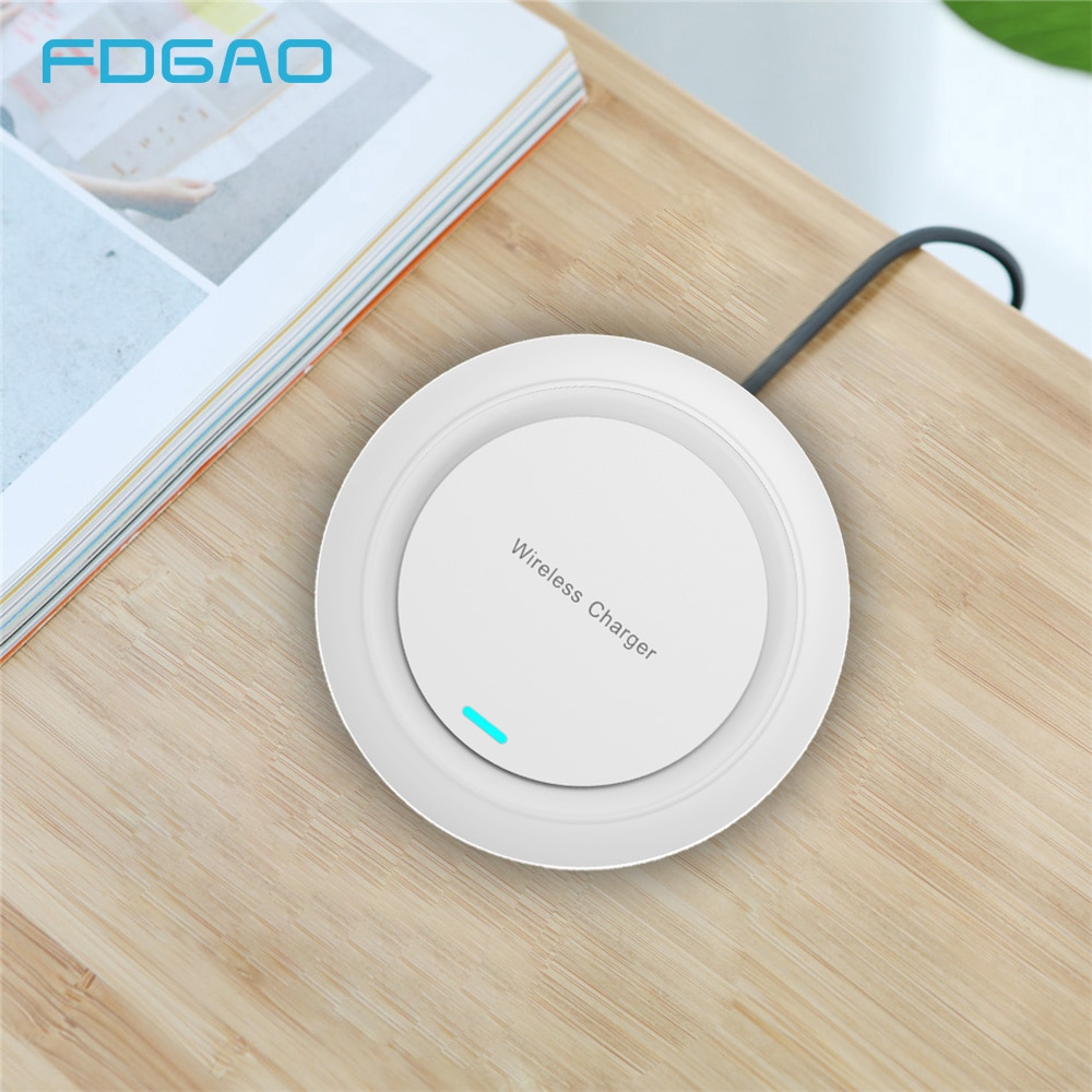 FDGAO Qi Wireless Charger Charging Pad For iPhone 11 Pro X XR XS MAX 8 Samsung S9 S10 Note 10 9 8 10W Wireless Induction Charger