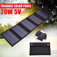 20W panneaux solaires pliant étanche solaire puissance cellules solaires chargeur 5V 2A USB dispositifs de sortie Portable pour voiture de Camping en plein air