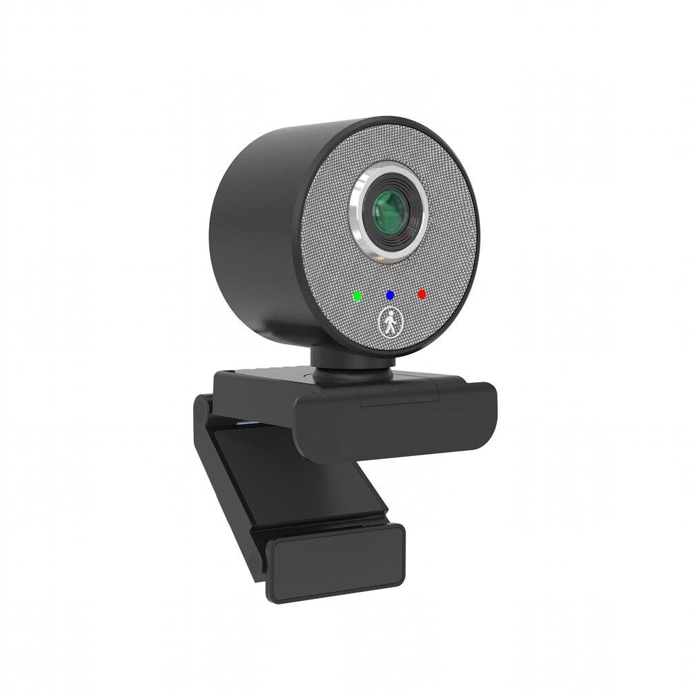 Full AI Humanoid USB Webcam AutoFocus with Microphone For PC Laptop 1080P Web Cam enlarge