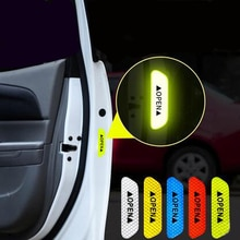 4Pcs/Set Car OPEN Reflective Tape Warning Mark Reflective Open Notice Bicycle Accessories Exterior C