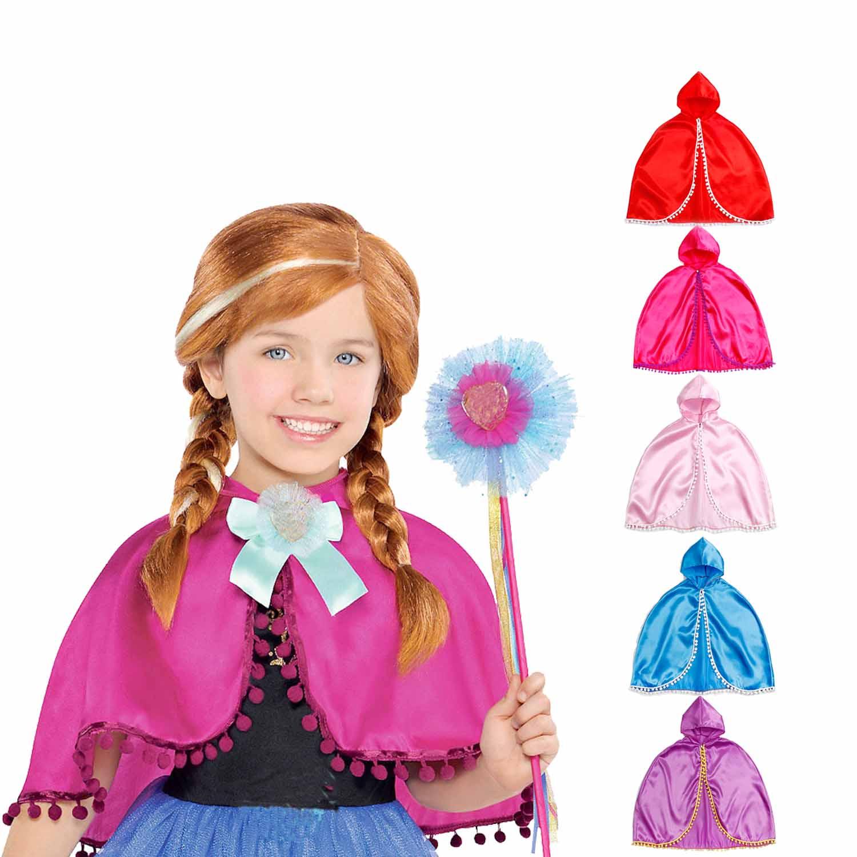 Princesa Anna capa inspirado niño Infante niña vestido hasta traje de fiesta de cumpleaños se adapta a 3-10 años