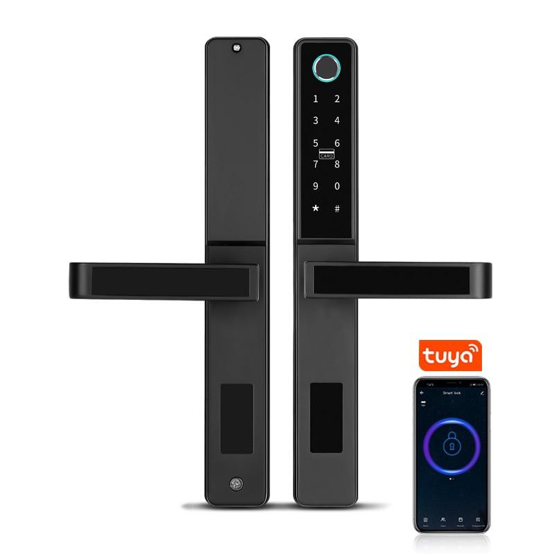 Review Smart Home WiFi Tuya Cerradura Inteligente Electric Finger Print Digital Fechadura Biometrica Passcode Door Lock Waterproof