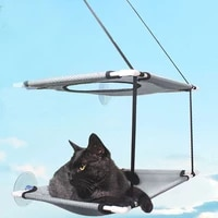 washable cat bed pet window perch double layers cat hammock resting seat pet hanging shelf resting seat with suction cat bed