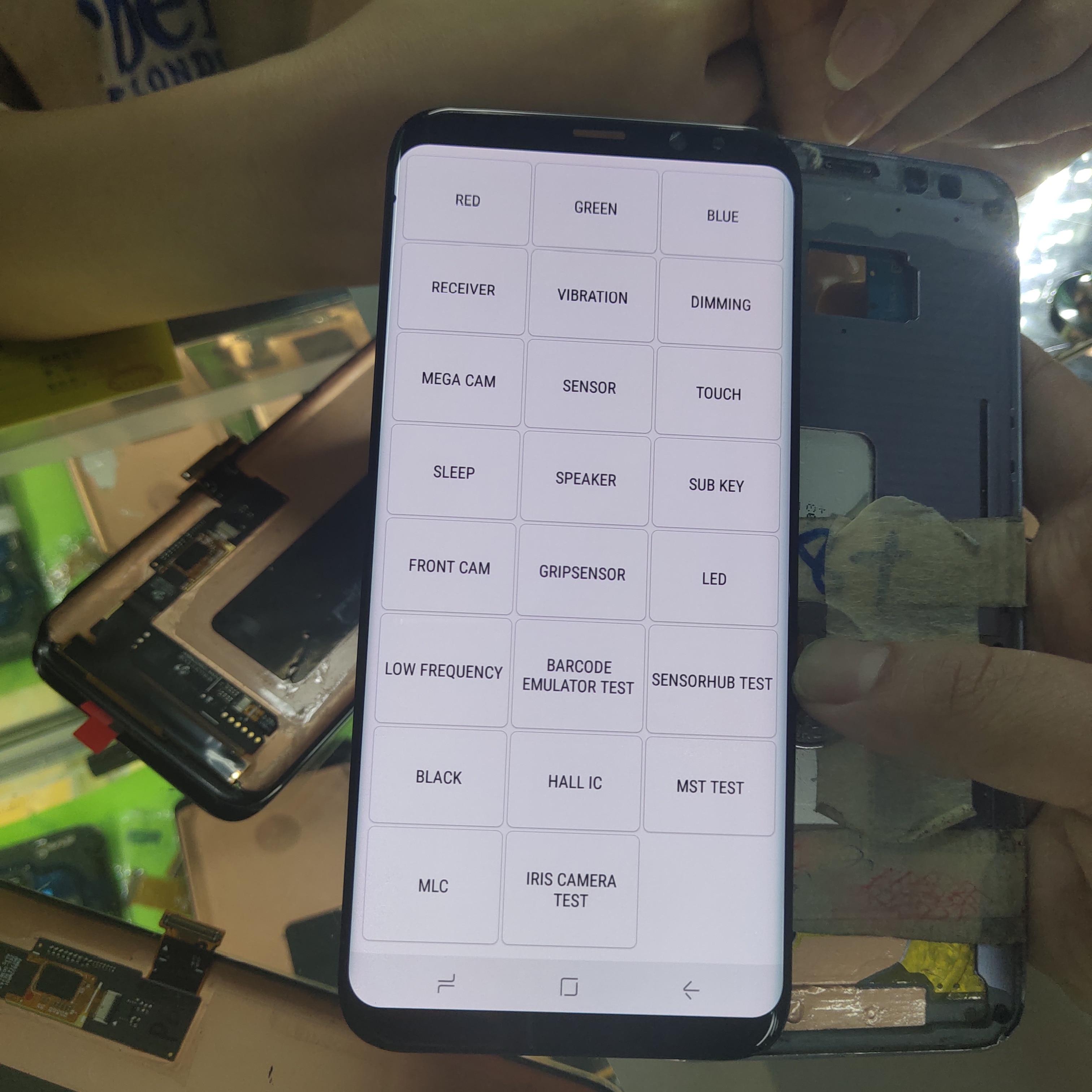 Super AMOLED para Samsung Galaxy S8 + S8 Plus G955 G955F pantalla táctil digitalizador pantalla LCD sin marco con píxeles muertos