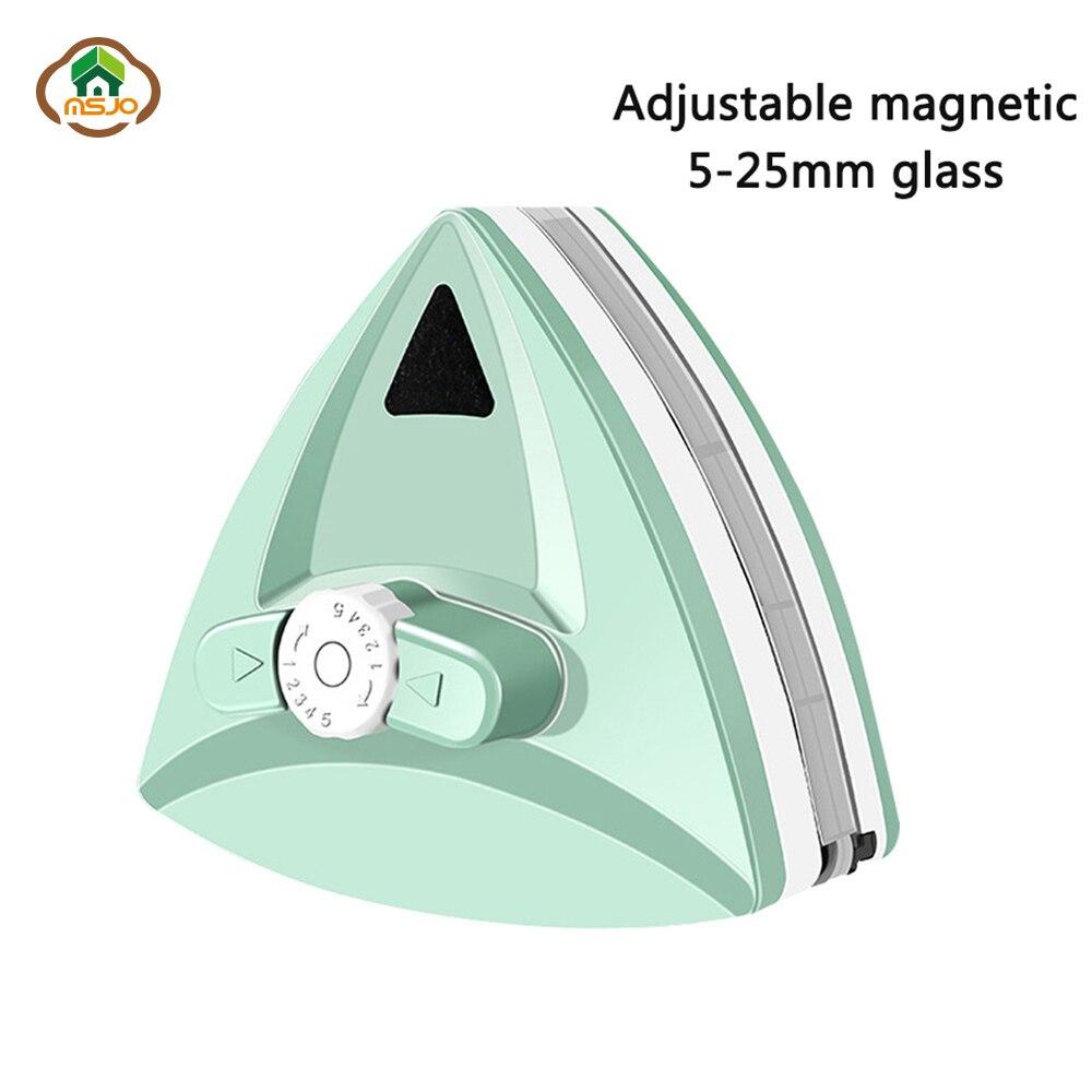 MSJO Magnetic Brush For Windows Magnet Clean Adjustable Magnetic Glass For Windows Wash Magnet Window Cleaner Magnetic Glasses
