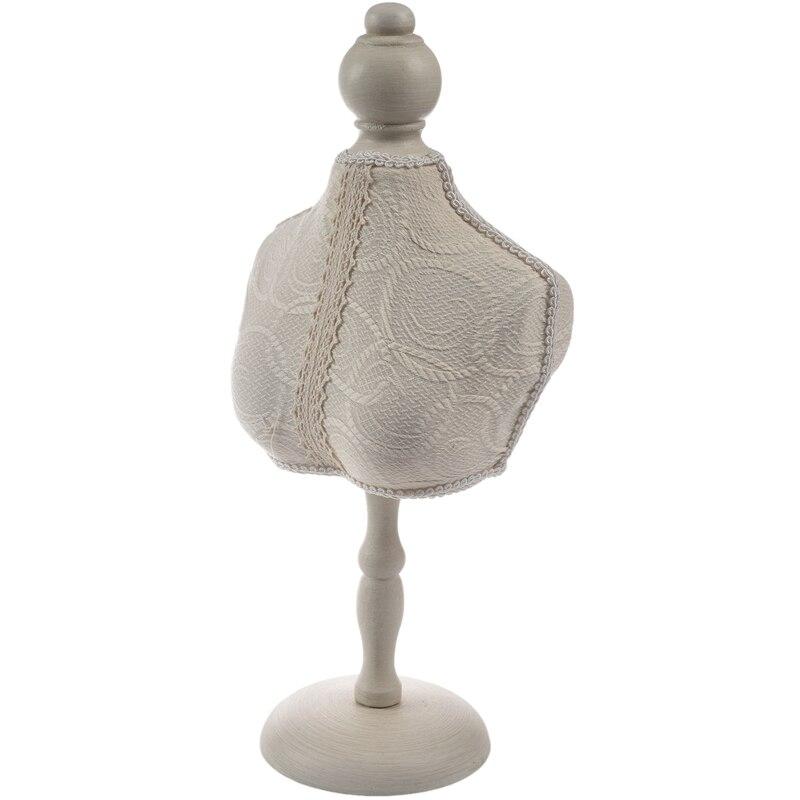 Laço de madeira do vintage branco manequim jóias rack quadro pendurado colar bangle titular jóias suporte modelos no peito (suporte)