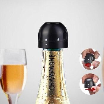 1ps Vacuum Red Wine Bottle Cap Stopper Silicone Sealed Champagne Bottle Stopper Retain Freshness Stopper Vacuum Sealer Bar Tools