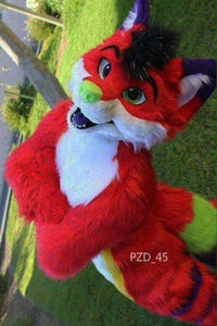 Long-haired Red Fox Mascot Costume Husky Dog Fursuit Halloween Cosplay Suit Christmas Easter Dress Up Party Carnival Unisex