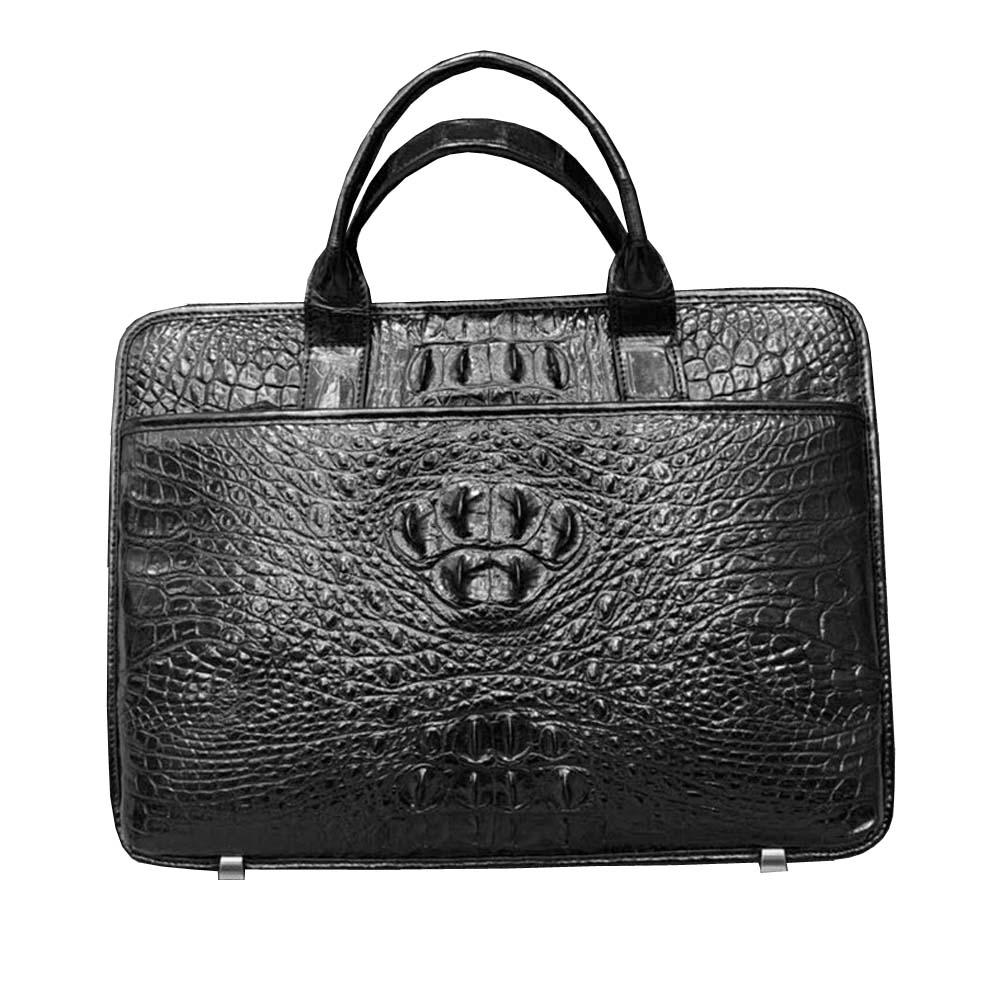 yuanlai new Thailand  crocodile men  handbag  male crocodile Leather bag  Men's bags  male briefcase crocodile skin