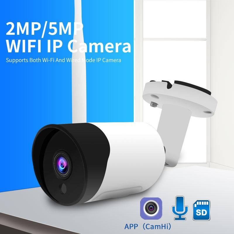 HD 1080P IXM307 5MP Wifi IP Camera Outdoor Wireless Onvif HD Night Vision CCTV Bullet Security Camera TF Card Slot APP CamHi