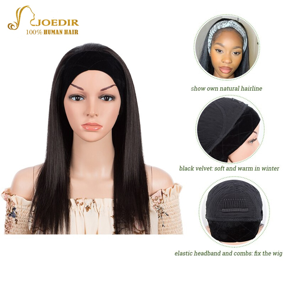 joedir perucas de cabelo humano perucas sem cola cor natural sem cola sem costurar em