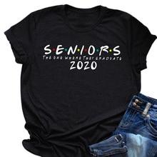Seniors 2020 The One T-shirt Cotton Unisex T-shirt Tops Casual Short Sleeve HB88