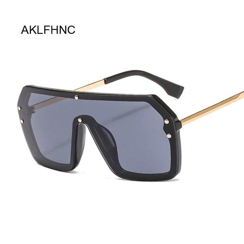 Oversized Square Sunglasses Women Men 2019 Luxury Brand Vintage Sun Glasses Men Big Frame Glasses Bl
