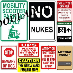 [Douladou] Vintage Metal Tin Signs Bar Cafe Restaurant Shop Various Slogans Creative Posters Home Decoration Plate 30*20CM