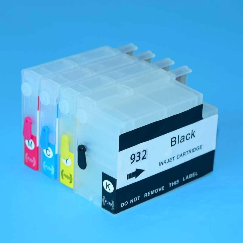 Hp 932 Hp 933 пустой перезаправляемый чернильный картридж для hp 6100 6600 6700 7110 7610 7612 принтер с постоянными чипов