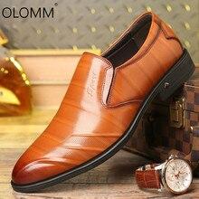 Hommes robe chaussures en cuir respirant mode sauvage pointu chaussures décontractées Zapatos De Hombre mocassins robe formelle