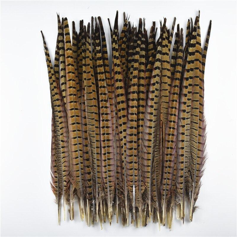 """10 Pçs/lote Natural Ringneck Faisão Penas de Cauda para o Artesanato de 15-65cm/6-26 """"de Penas de Faisão decoração de Plumas Penas de Cabelo Carnaval"""