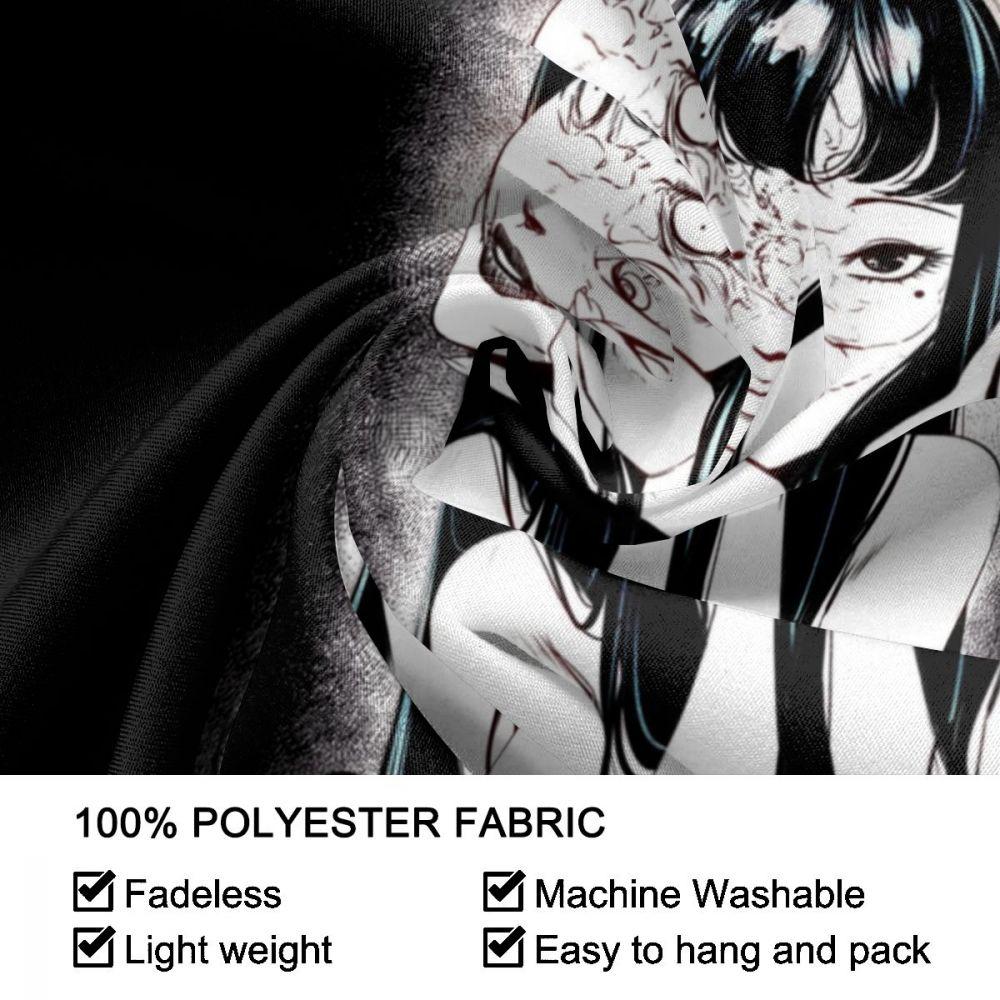 Junji Ito Tapestry Wall Hanging Curtain Tomie Japanese Kago Manga Horror Tomie Harajuku Tapestries Polyester Picnic Blanket