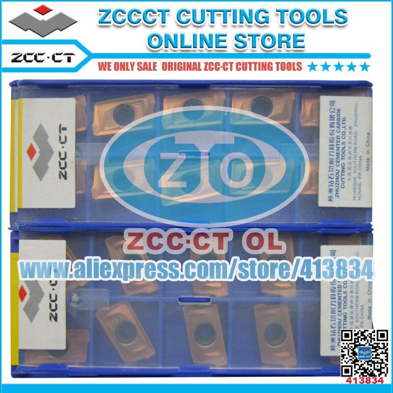 100 pces yb9320 APKT160408-APM cvd zccct carboneto cimentado fresa inserção positiva ferramenta torno cortador